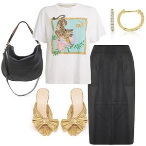 1 Piece, 3 Ways: The Leather Midi Skirt