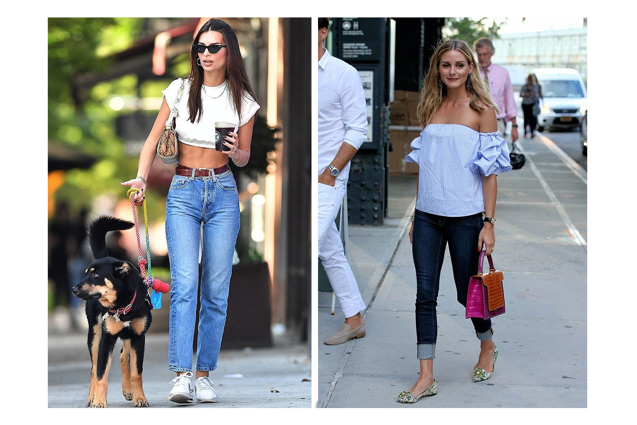 Emily Ratajkowski & Olivia Palermo effortlessly pulling of this signature look