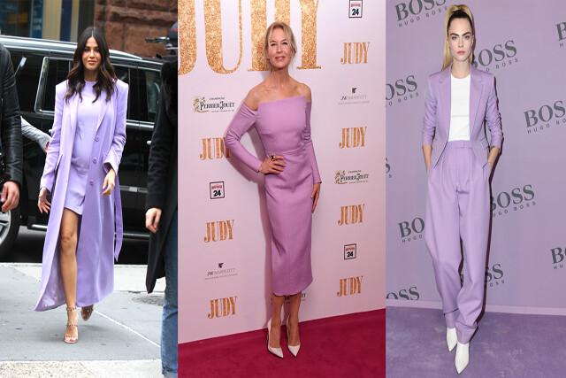 Jenna Dewan, Renee Zellweger and Cara Delevingne Rocking Millennial Purple