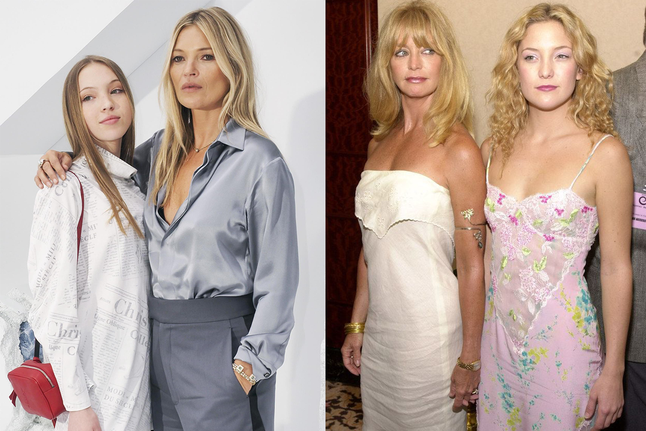Katie & Lila Moss and Goldie Hawn & Kate Hudson