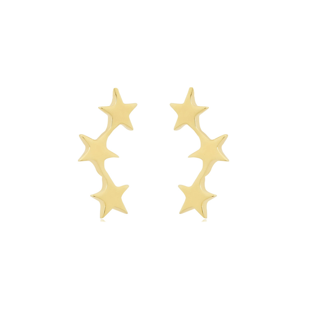 Tada & Toy Shooting Star Studs Gold