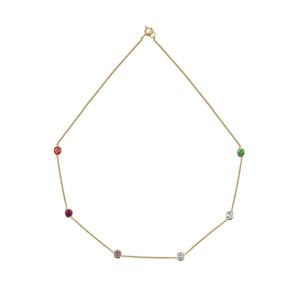 Rosie Fortescue Jewellery Rainbow Tight Chain Necklace