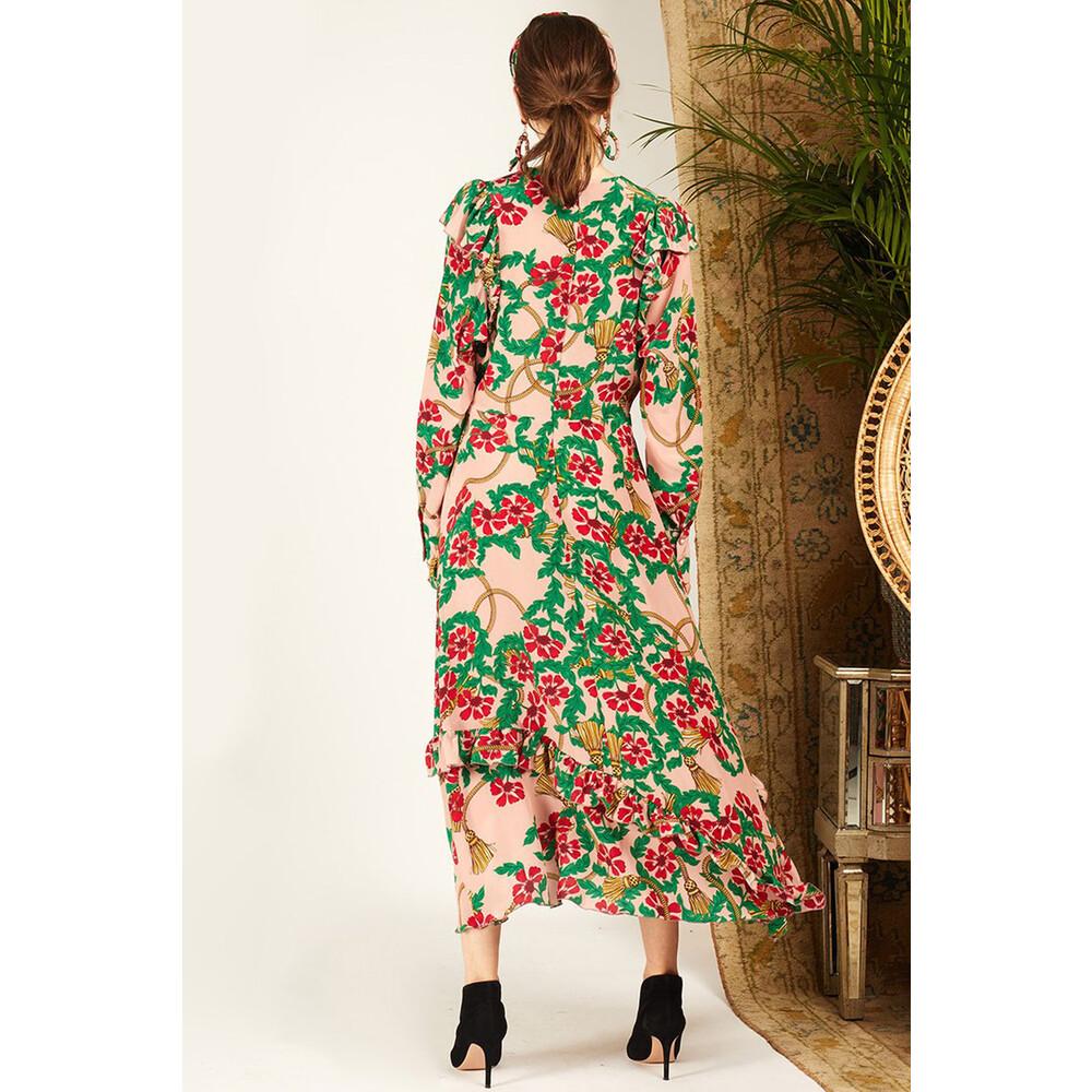 Hayley Menzies Eden Rose Midi Frill Dress