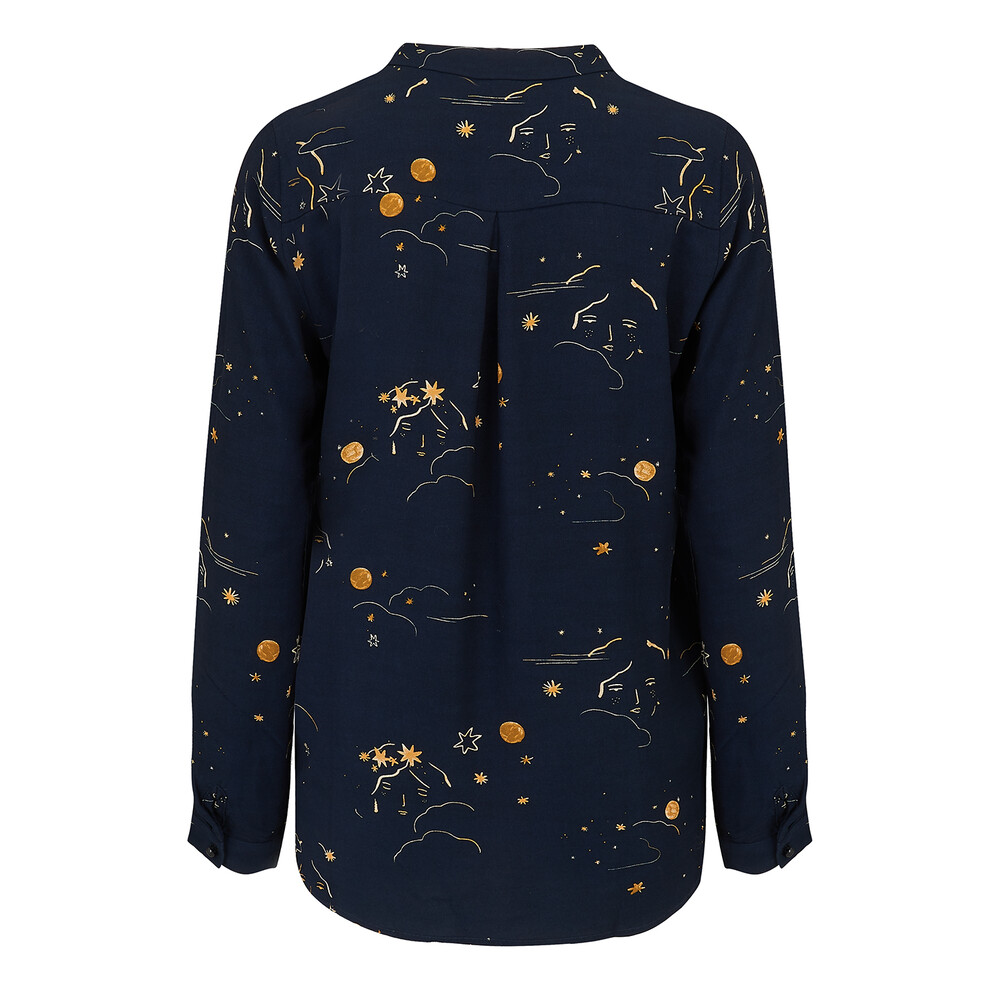 Des Petits Hauts Moon And Star Print Blouse