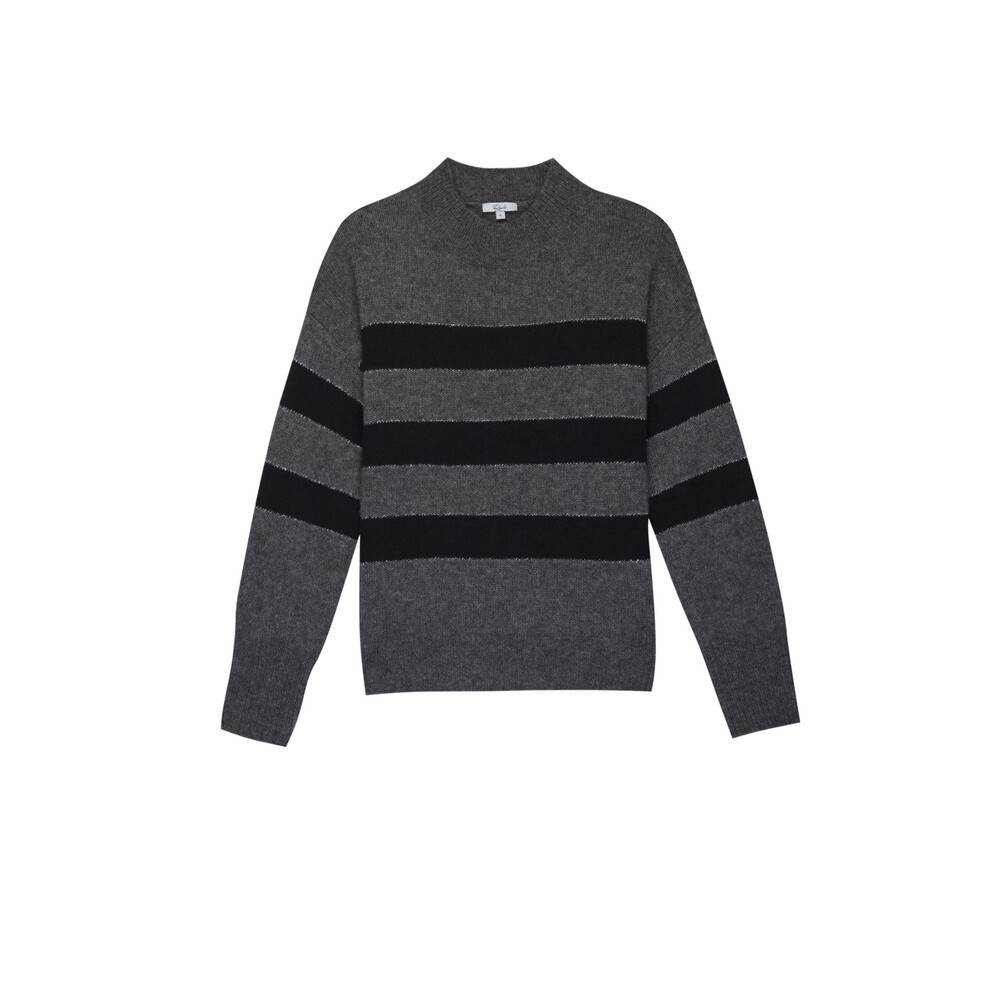 Rails Ellise Sweater Charcoal Midnight Stripe