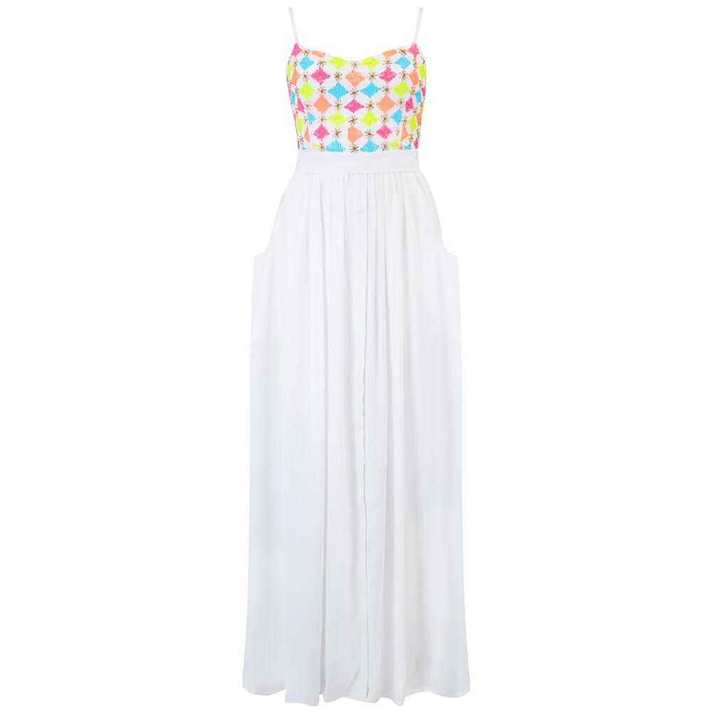 KatieAndJo Brittany Sequin Dress White