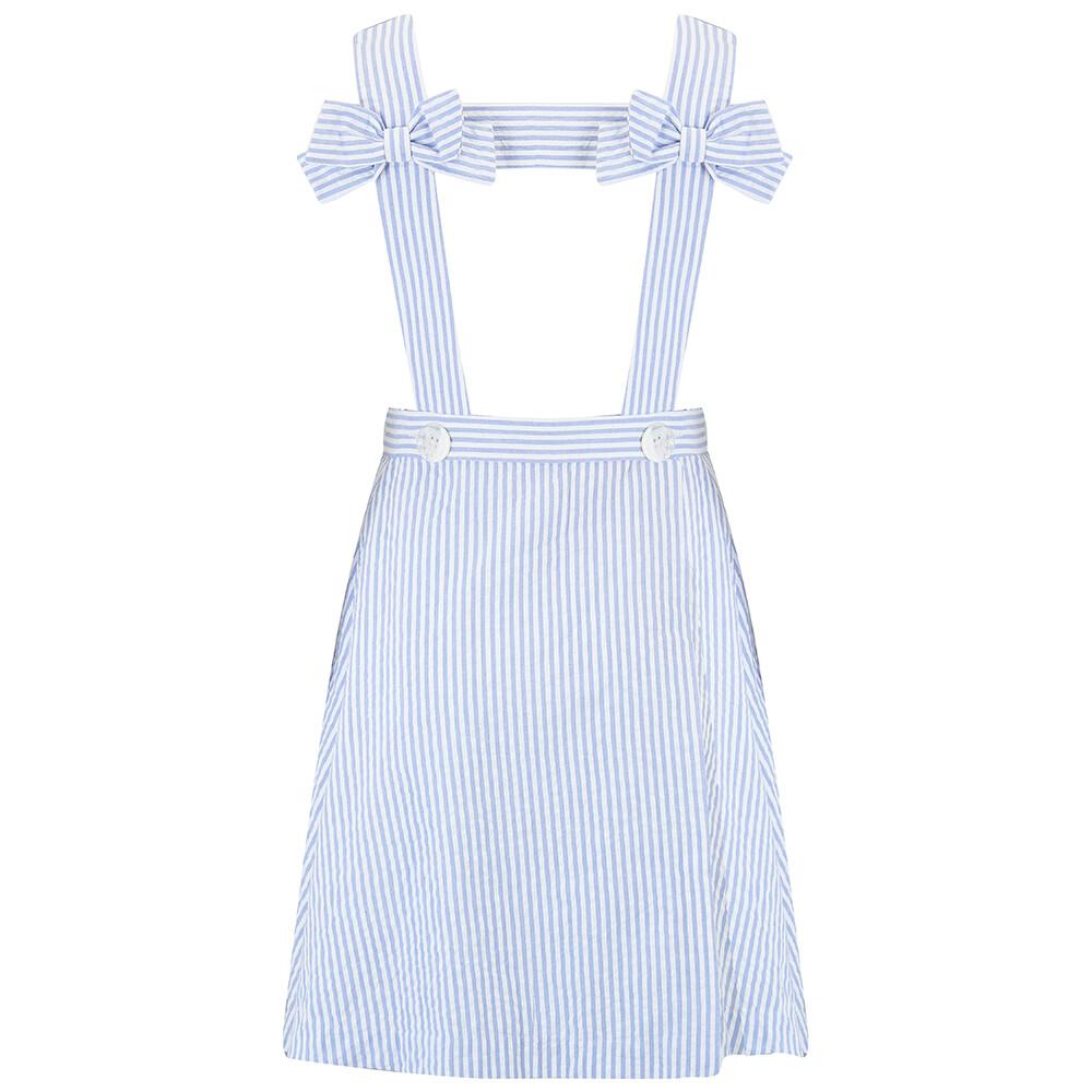 KatieAndJo Felicity And Stripe Bow Dress