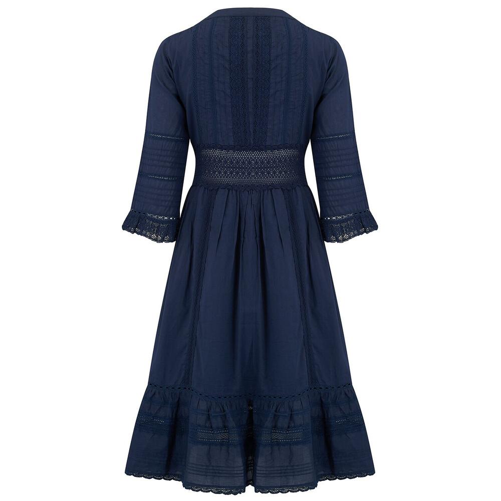 Velvet Angi Dress Navy