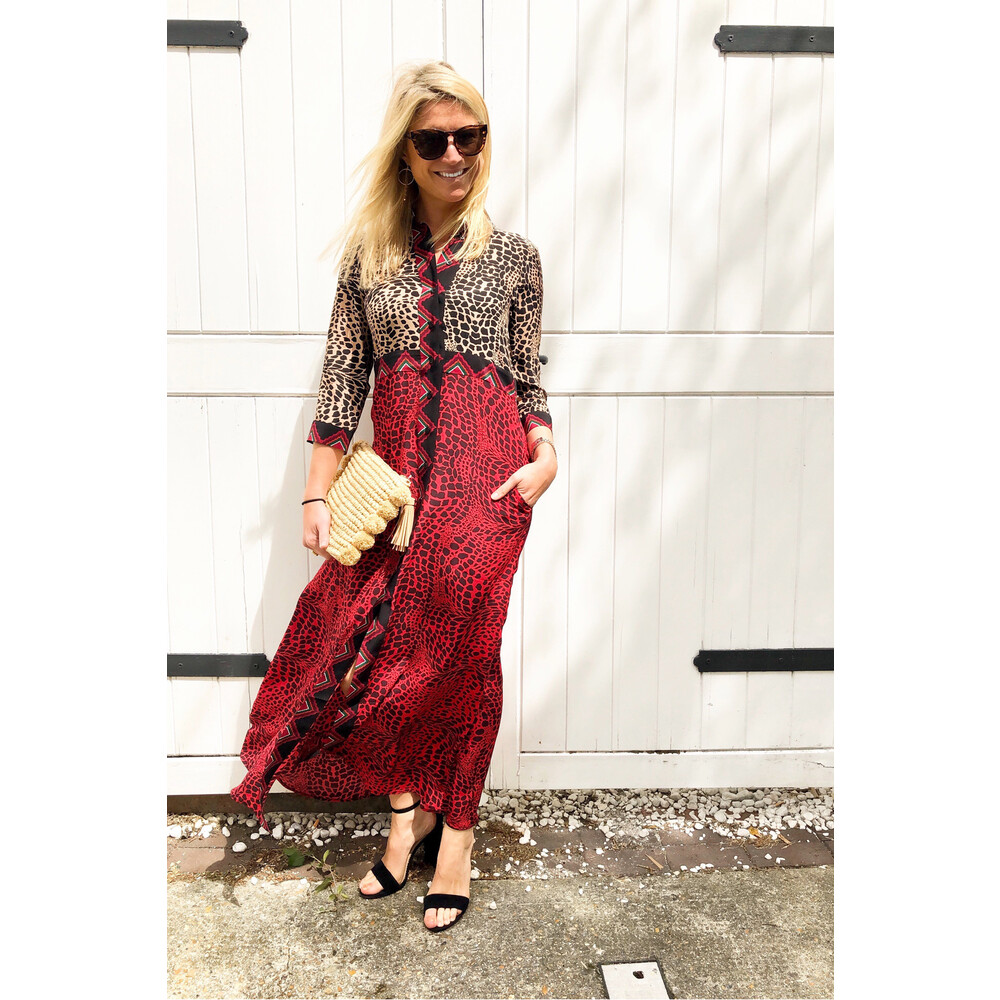 Hayley Menzies Crocodile Mix Shirt Dress