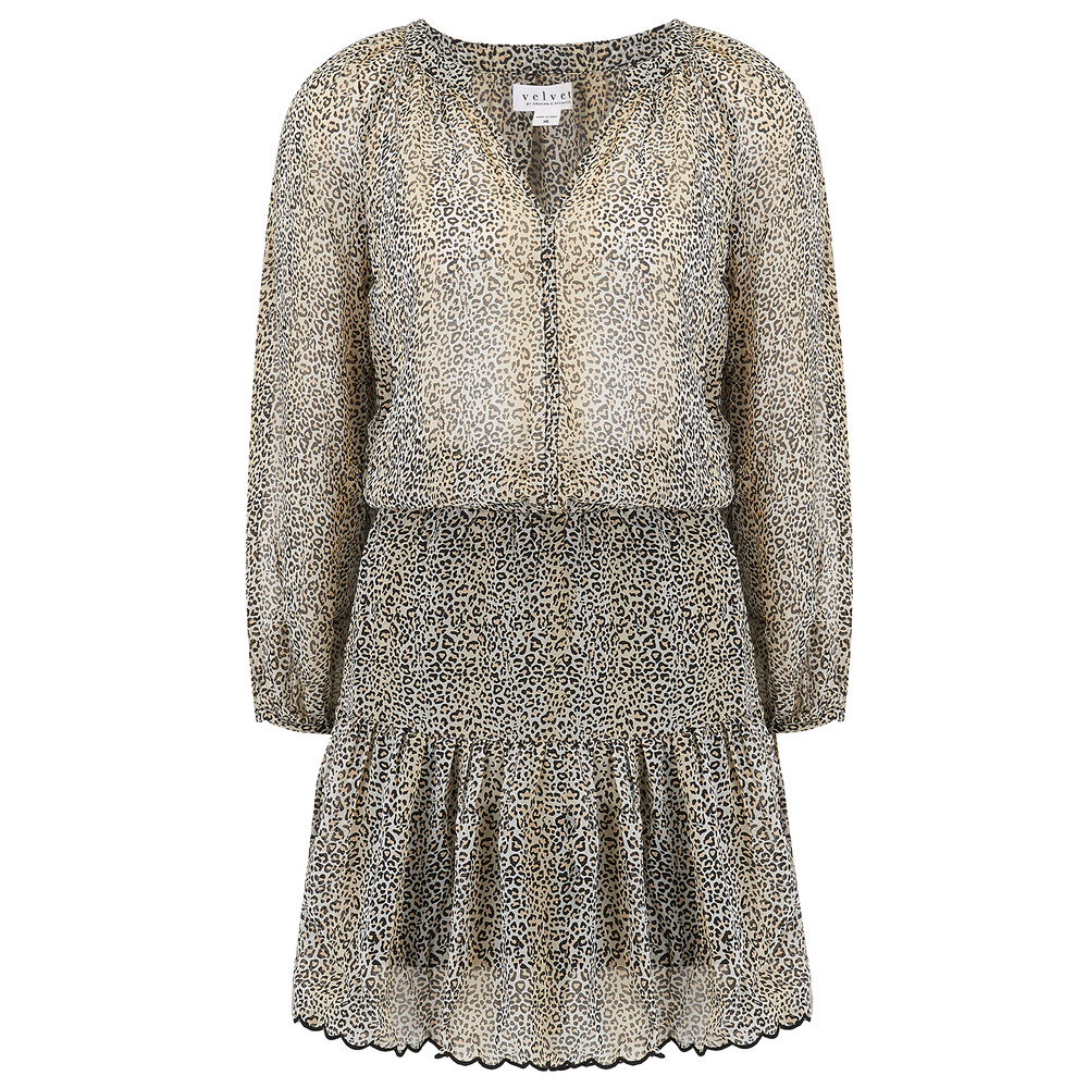 Velvet Aubrey Leopard Dress