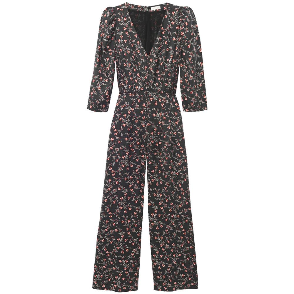 Rebecca Taylor Lia Floral Silk Twill Jumpsuit