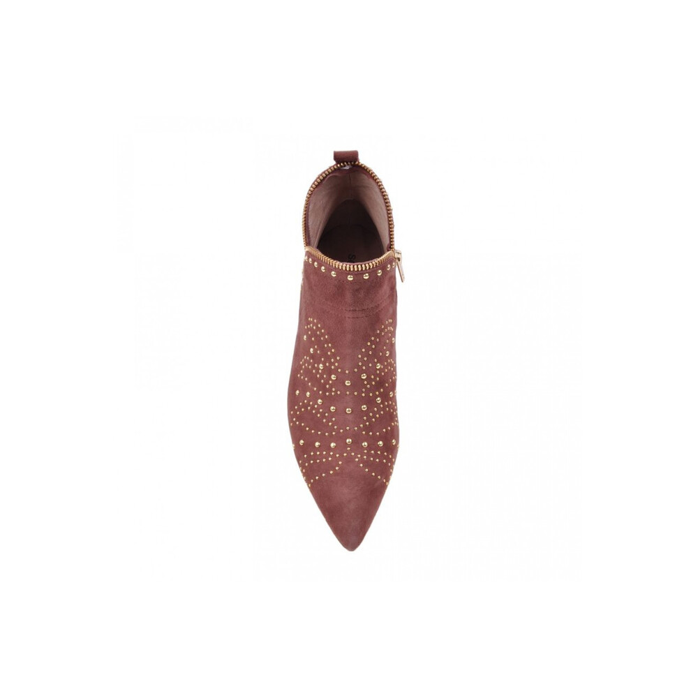 Sofie Schnoor Dusty Rose Studded Suede Boots Pink