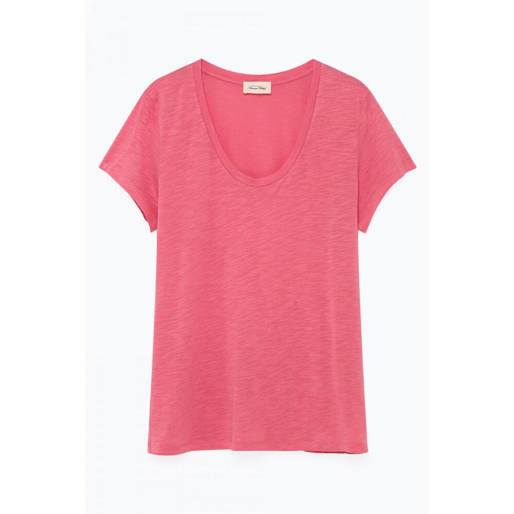American Vintage Jacksonville Round Neck T Shirt Pink