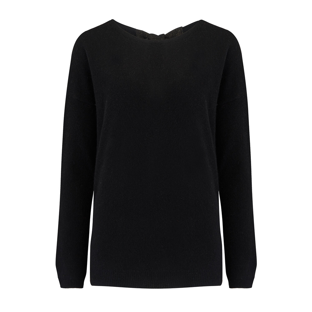 Absolute Cashmere Jumper With Lurex Back Tie