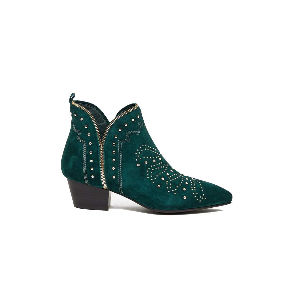 Sofie Schnoor Emerald Suede Studded Boots