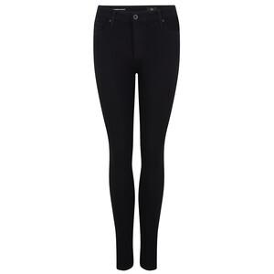 AG Jeans Farrah Super Black High Rise Skinny Jeans