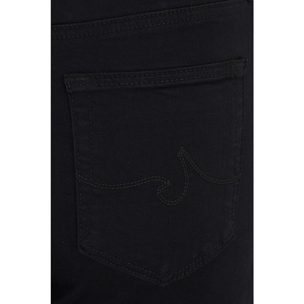 AG Jeans Farrah Super Black High Rise Skinny Jeans Black
