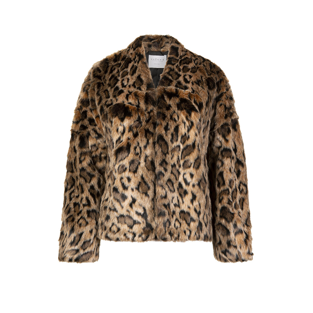 Velvet Anne Faux Fur Cropped Coat