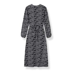 Pyrus Hazel Dress Black Feather Print