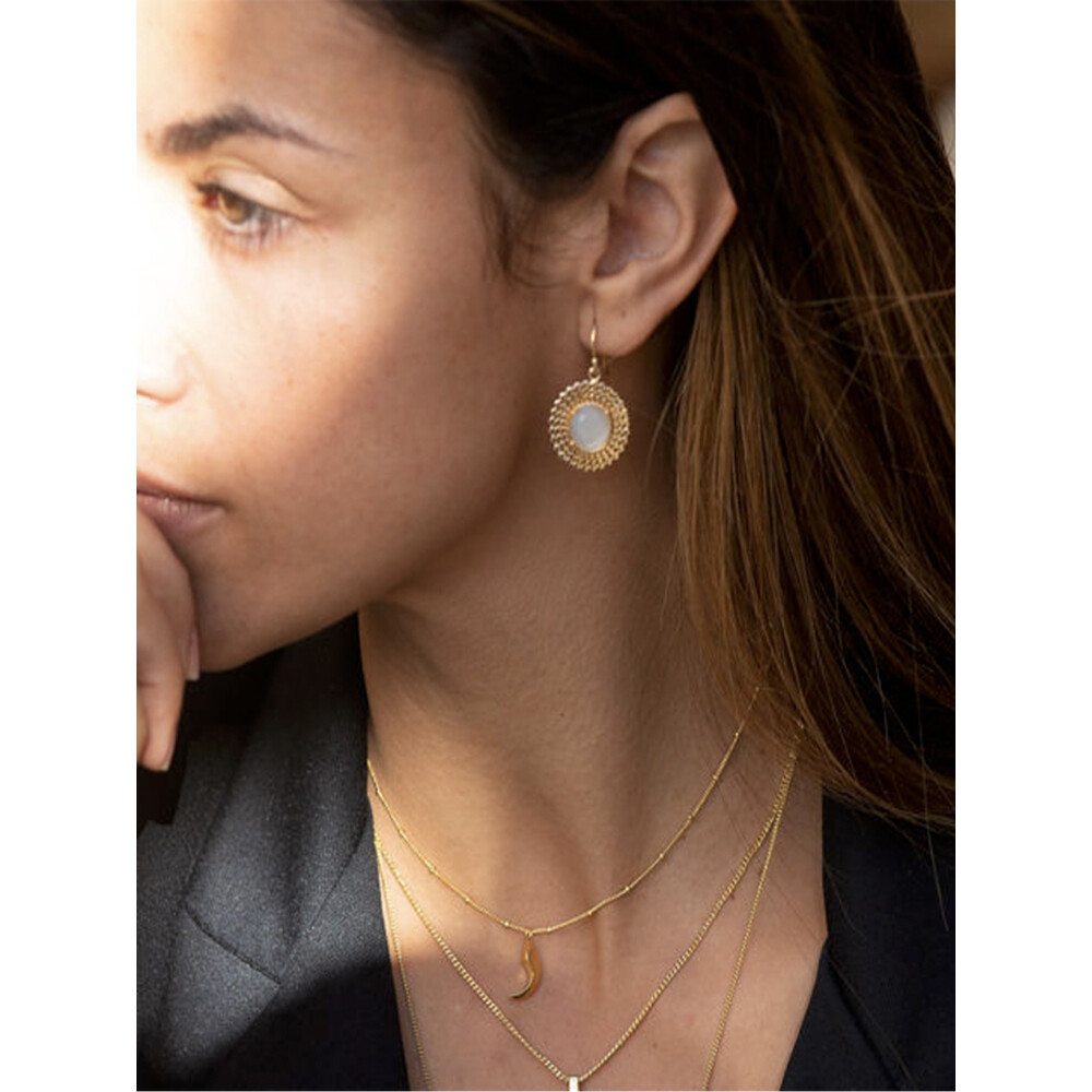 Azuni Etrusca Round Moonstone Drop Earrings