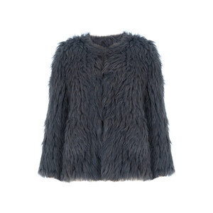 Jay Ley Hand Knitted Faux Fur Jacket