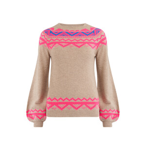 Jumper 1234 Neon Fairisle Jumper