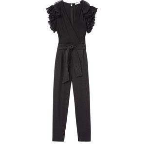 Rebecca Taylor Short Sleeved Ruffle Jumpsuit