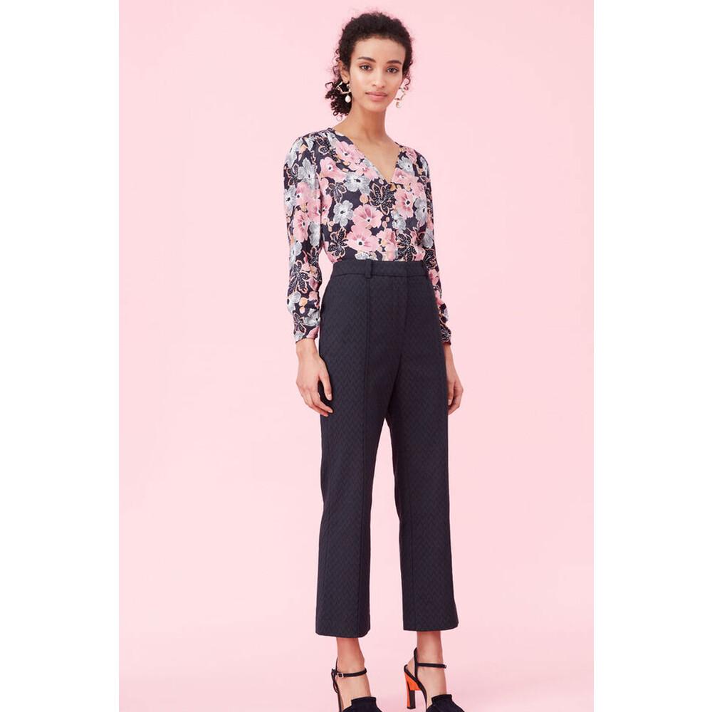 Rebecca Taylor Jardin Fleur Print Blouse Black