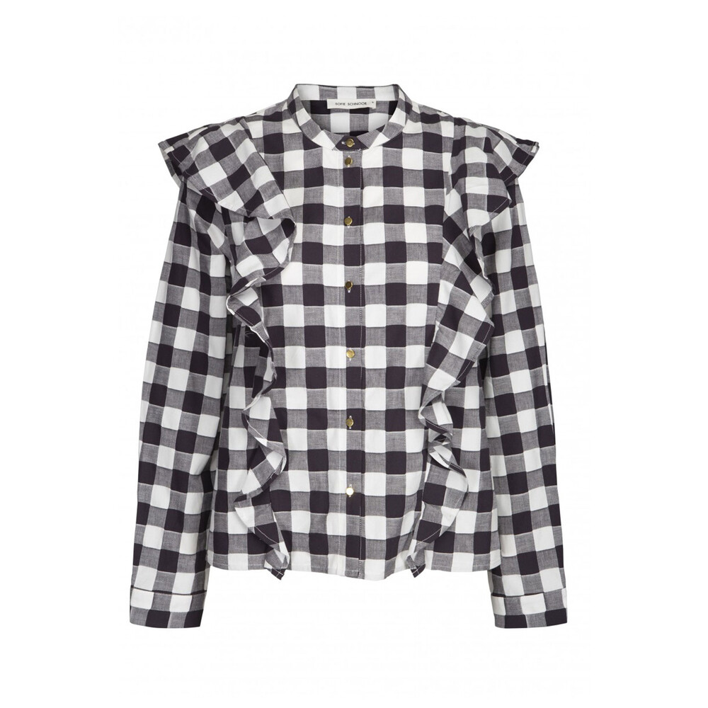 Sofie Schnoor Rose Checked Blouse Black