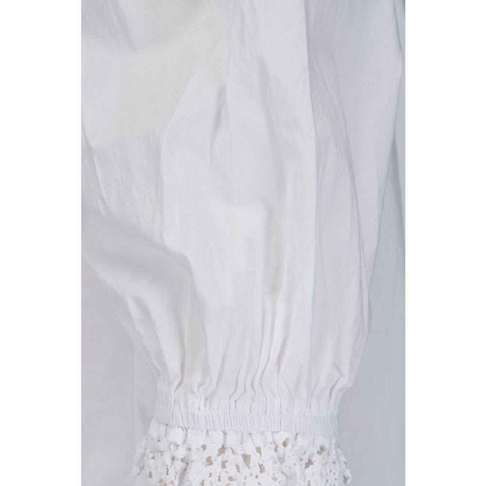 Velvet Penny Cotton Poplin Blouse White