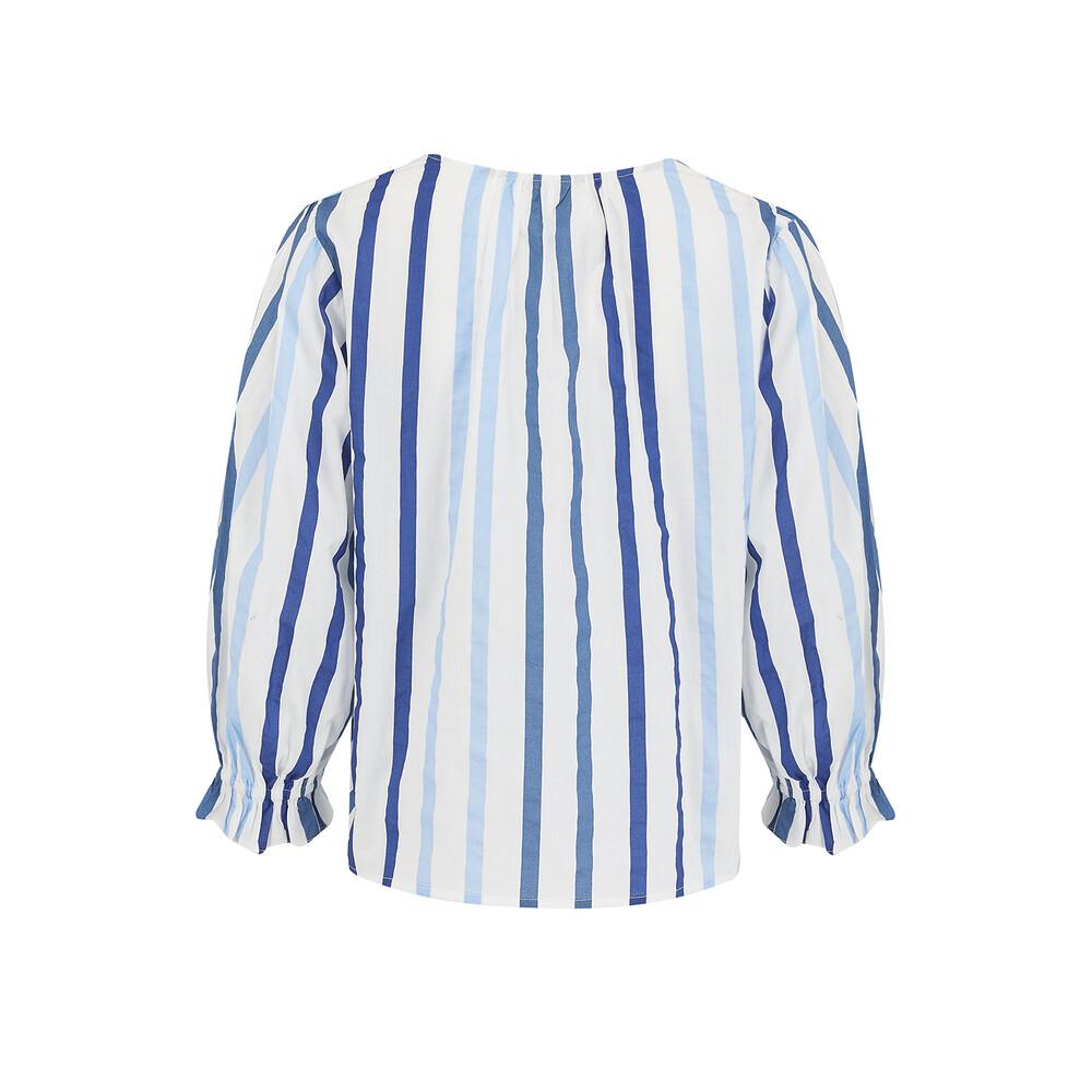 Velvet Whitley Stripe Blouse Blue