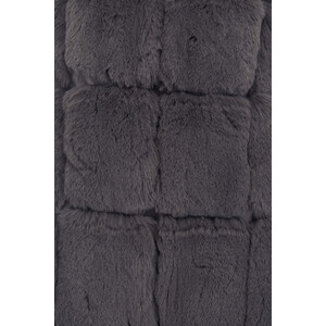 Jay Ley Dark Hooded Faux Fur Gilet