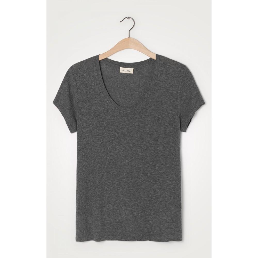 American Vintage Jacksonville Round Neck T Shirt Anthracite