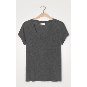 American Vintage Jacksonville Round Neck T Shirt in Anthracite