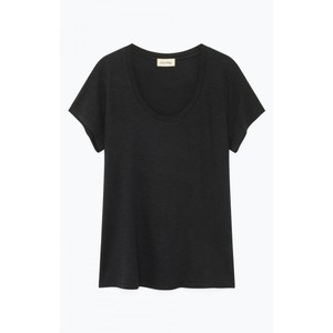 American Vintage Jacksonville Round Neck T Shirt in Black