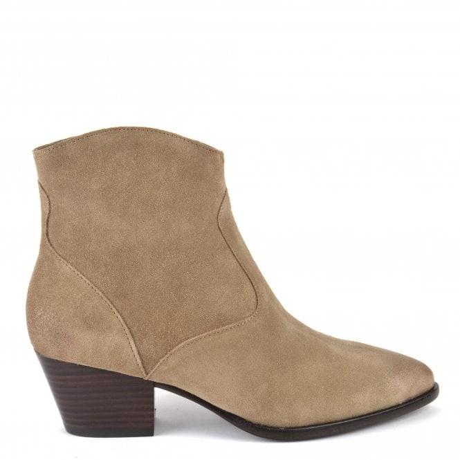 Ash Heidi Bis Suede Boots Beige