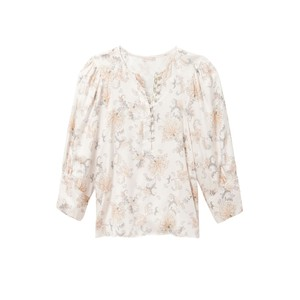 Rebecca Taylor Long Sleeve Paisley Blouse