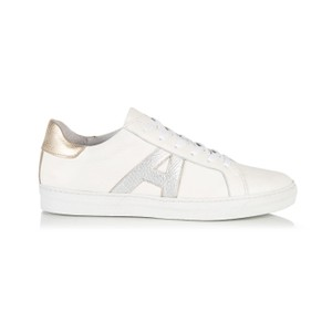 Air & Grace Cru Signature Trainers in White/Silver/Gold