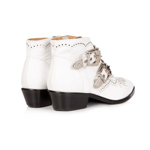Air & Grace Starlight White Leather Ankle Boots