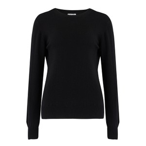 KatieAndJo Round Neck Cashmere Jumper in Thistle in Black