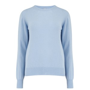 KatieAndJo Round Neck Cashmere Jumper in Thistle in Blue