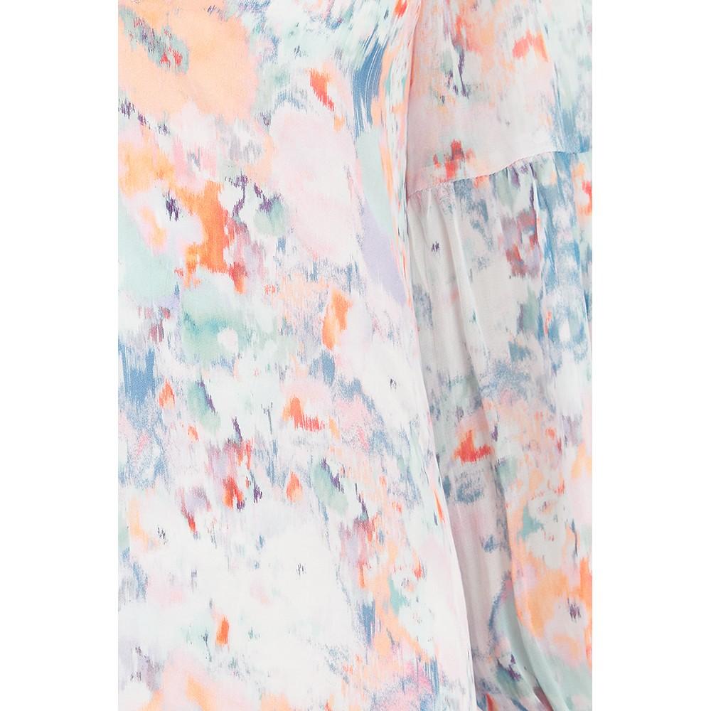 Velvet Jessa Printed Blouse in Watercolour Multicoloured