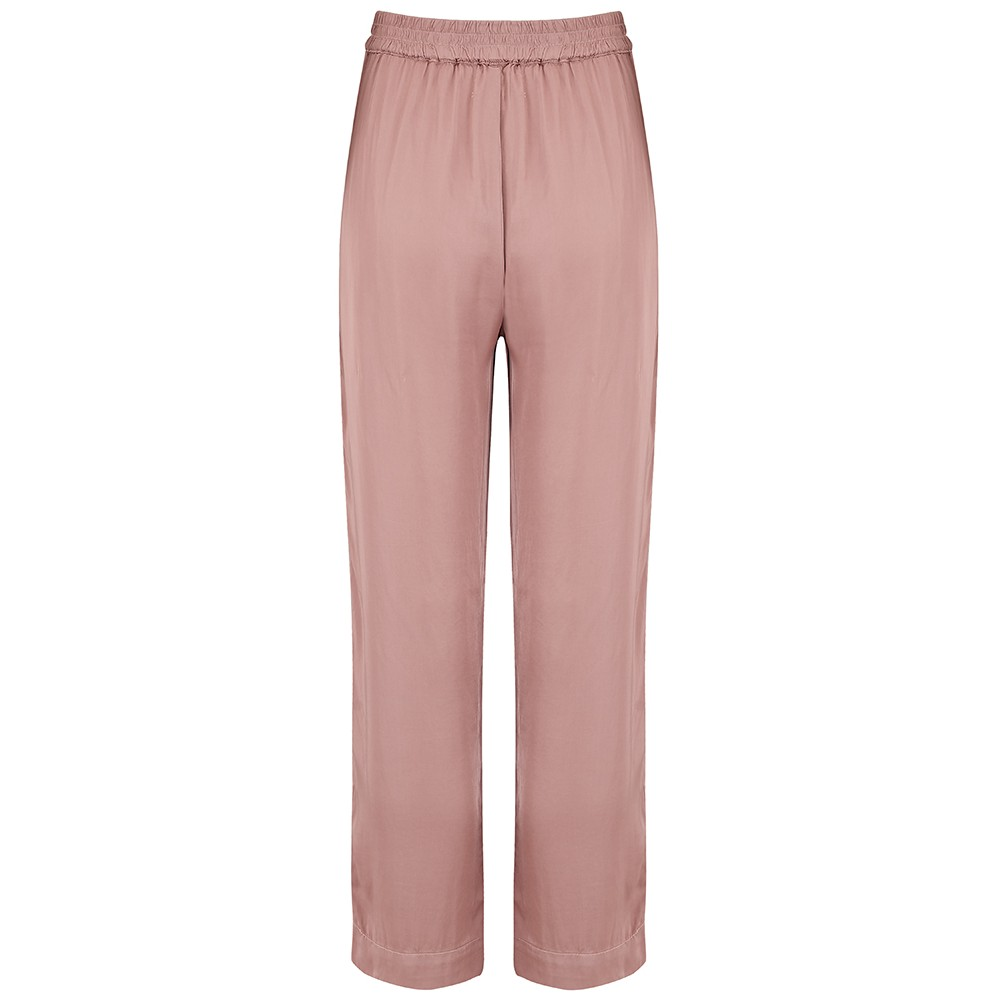 Velvet Hillary Satin Trousers in Pink Pink
