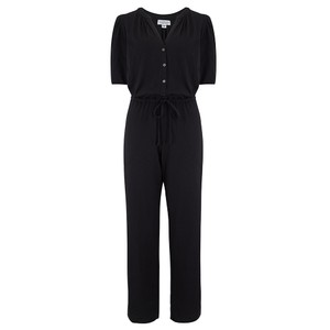 Velvet Lyra Jumpsuit in Black