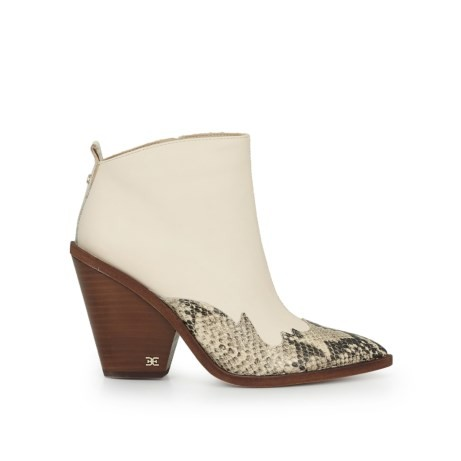 Sam Edelman Ilah Snake Leather boots in Cream Cream