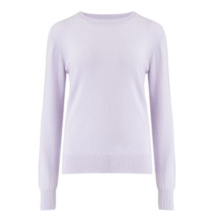 KatieAndJo Round Neck Cashmere Jumper in Bayou in thistle