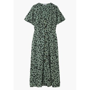 Lily & Lionel Lola Dress in Sage Leopard