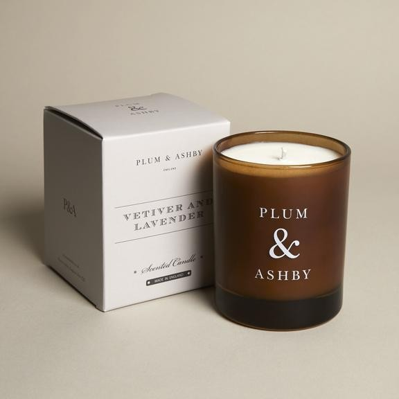 Plum & Ashby Vetiver and Lavender Candle None