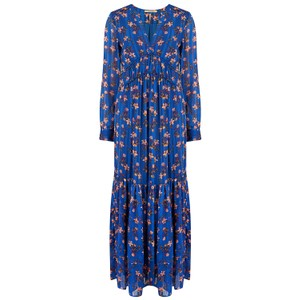 Maison Scotch Floral Midi Dress with Details