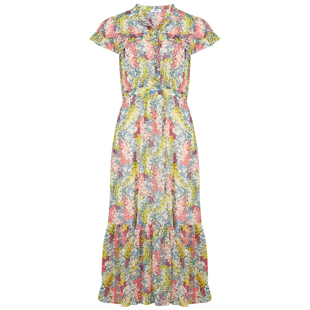 Suncoo Castille Dress in Anis Multicoloured